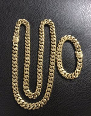 New Cuban link chain and bracelet for Sale in Orlando, FL