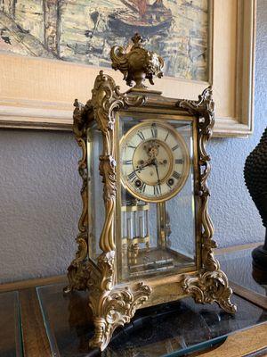 Early 1900's Ansonia Gold Ornate Brass Clock w key for Sale in Las Vegas, NV