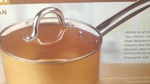 Parini Copper Ceramic 3 Quart Sauce Pan for Sale in Riverside, CA