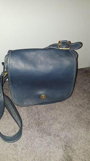 Vintage Coach Blue Leather Stewardess Purse Crossbody S5B-9525 for Sale in Glendale, AZ