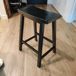 Black, Wooden, Counter-Height Stool for Sale in Seattle, WA