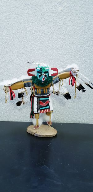 Wooden hand-carved Kachina doll signed by artist for Sale in Chandler, AZ