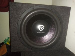Rockville 12 inch sub single box for Sale in Cleveland, OH