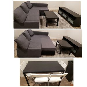 Sofa, TV stand, dining table with chairs and a coffee tabel. for Sale in Seattle, WA