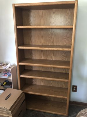 Wood tall bookcase for Sale in Parma Heights, OH
