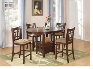 Lavon Transitional Warm Brown Five-piece Counter-height Set for Sale in Naples, FL