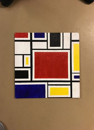 """Mondrian"" style painting on plywood board for Sale in Columbus, OH"