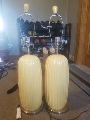 Yellow table lamps for Sale in Kearney, NE