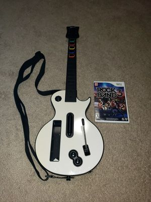 Rock Band 3 for Nintendo Wii (BRAND NEW) w/ Wii Gibson Les Paul guitar for Sale in Hampton, VA