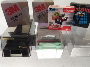 Three floppy plastic boxes and four boxes of floppies for Sale in Parma, OH