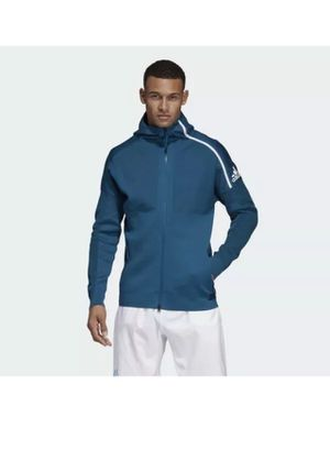 $150 Adidas x PARLEY Mens ZNE Primeknit Hoodie Track Jacket Teal DP0285 Small for Sale in Kissimmee, FL