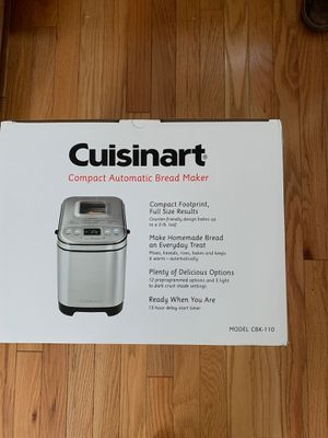 Cuisinart CBK-110 2 pounds Compact Automatic Bread Maker for Sale in Adelphi, MD
