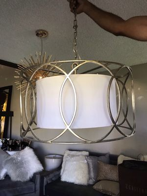"Silver Gold Chandelier Ceiling Light 25"" Diameter $120 for Sale in Miami, FL"