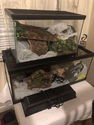 Reptile enclosure and decor for Sale in Azalea Park, FL