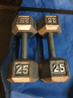 Cap barbell dumbbells 25 lbs weighs for home gym for Sale in San Bernardino, CA