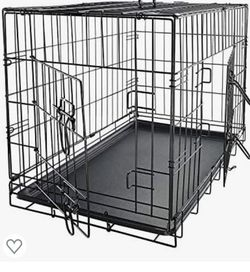 """Dog Crates for Small Dogs - Dog Crate 30""""Pet Cage Double-Door Best for Puppy & Kitten Pets - Wire Metal Kennel Cages with Divider Panel & Tray - In-d for Sale in Long Beach,  CA"""