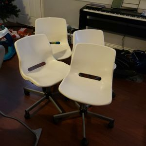 4 White Spinning Chairs for Sale in Price, UT