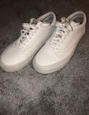 All White Old School Vans for Sale in Sacramento, CA