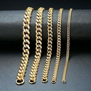Stainless Steel Gold/Silver/Black Cuban Link Bracelet for Sale in Wichita, KS
