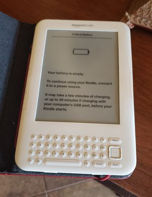 Amazon Kindle with red leather case for Sale in Chandler, AZ