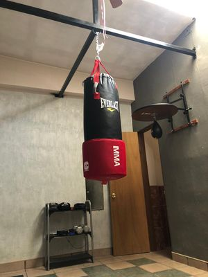 Everlast Heavy Bag 80 lbs and Speed Bag Mount for Sale in El Paso, TX