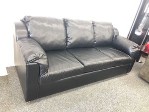 Black bonded leather sofa only for Sale in Phoenix, AZ