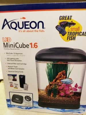 AQUEON LED MINI CUBE 1.6 GALLON AQUARIUM for Sale in Monrovia, MD