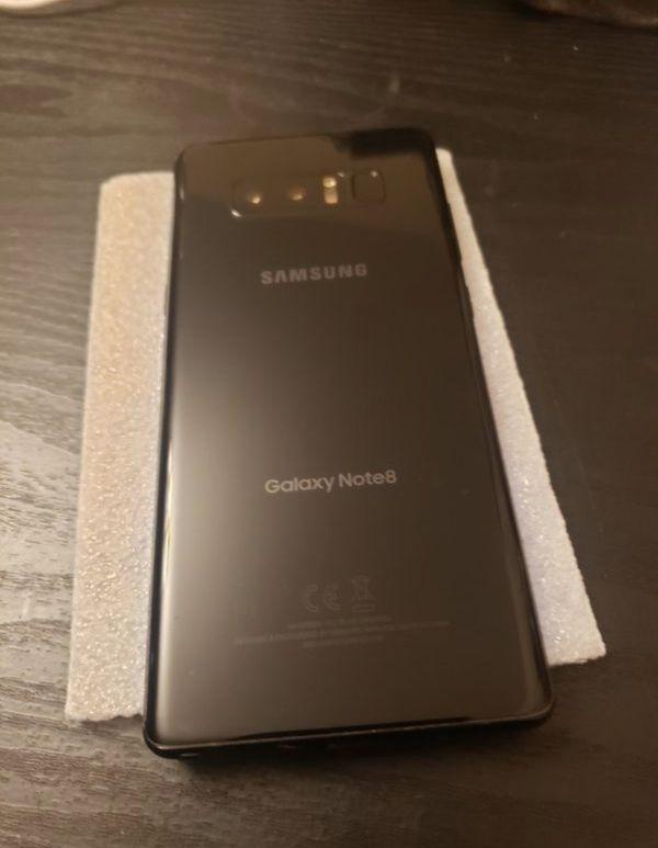 Samsung galaxy Note 8 factory unlocked 64gb. The price is not NEGOTIABLE. Works att, cricket, tmobile, metro, simple mobile, verizon