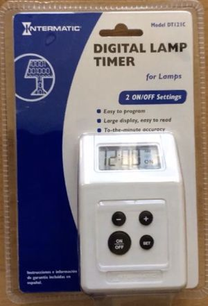 $ 13 OBO- INTERMATIC Digital Lamp & Appliance Timer Model # DT121C Brand New In Original Intermatic Blister Packaging for Sale in Glendale, AZ