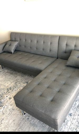 Grey adjustable sectional sofa bed ( queen size) new in boxes for Sale in Long Beach, CA