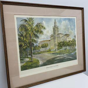 1985 Biltmore Hotel Coral Gables Miami Florida Framed Picture for Sale in Miami, FL