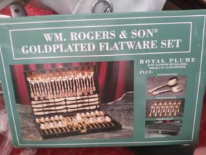 Gold plated flatware set for Sale in Redondo Beach, CA