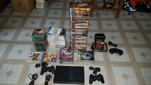 Playstation 2 system with many games for Sale in Calumet Park, IL