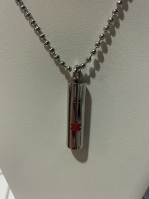New medical cylinder necklace ( twist and opens) for Sale in San Jacinto, CA