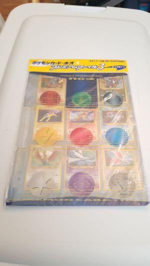 Japanese Pokemon Neo Genesis 3 Sealed Binder 9 Card Set Revelation for Sale in Knightdale, NC