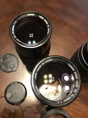 Canon fd 70-210 f4 lens (2) for Sale in Chula Vista, CA