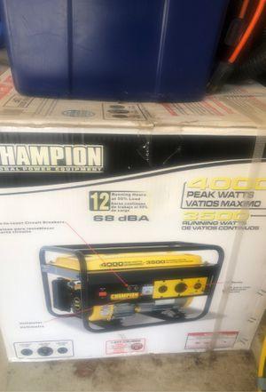 4000 Peak Watts Champion Generator RV Ready- Brand New in Box for Sale in Edgewood, WA