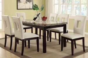 Contemporary 7 pieces DINING SET with chairs available in dark color for Sale in Hialeah, FL