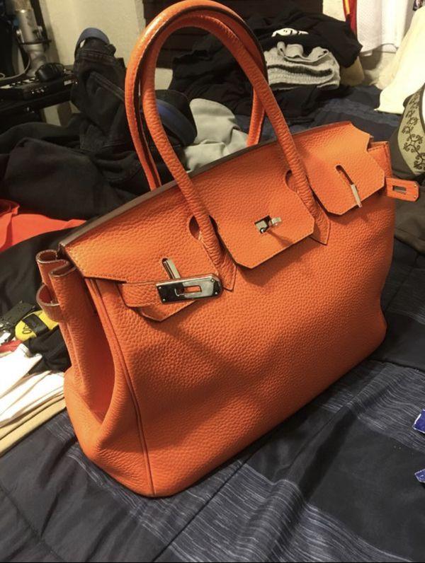 Orange Hermès birkin bag