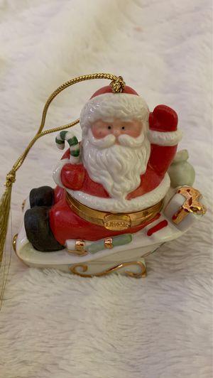 Lenox China Treasures Santa Keepsake Box Ornament for Sale in Manassas, VA