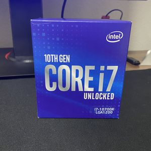 Intel i7 10700k CPU Processor (8 cores 16 threads) up to 5.1 GHZ for Sale in Garden Grove, CA