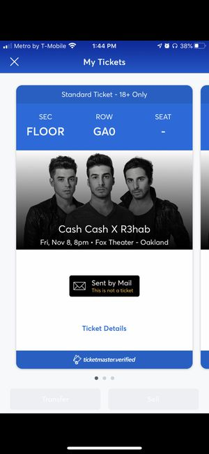 Cash cash rehab concert Friday for Sale in Chico, CA