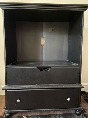 """Wood TV cabinet 3'3"""" x 1'10"""" x 4'3"""" for Sale in Charlotte, NC"""
