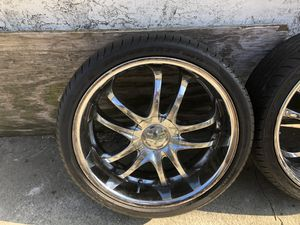 20 inch chrome rims and tires for Sale in Pinole, CA