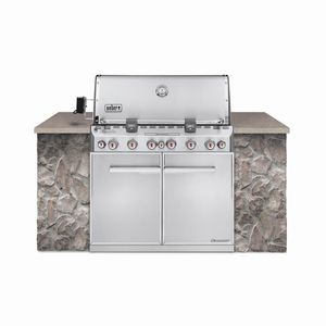 Weber Summit S-660 6-Burner Built-In Natural Gas Grill in Stainless Steel with Grill Cover and Built-In Thermometer for Sale in Houston, TX