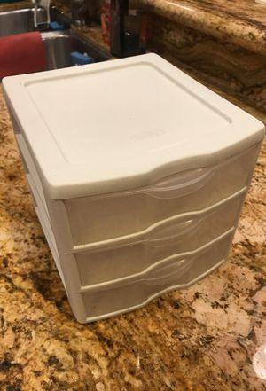 Mini Sterilite Plastic Drawer (3 drawers) for Sale in Anaheim, CA
