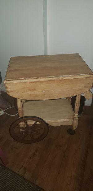 Tea cart drop leaf table for Sale in Saginaw, MI