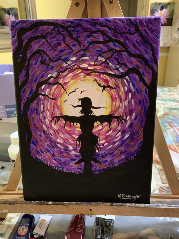 Acrylic over canvas 9x12 this art is not print real painting for those persons love real art all painting $25