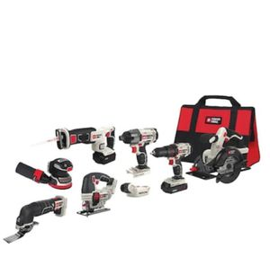 PORTER CABEL- 8 TOOL 20-Volt Max Power Tool Combo for Sale in Cypress, TX