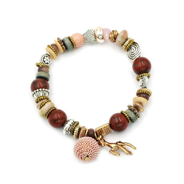 Colorful bead small deer bracelet